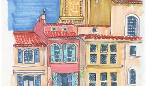 sketch of Martigues, france