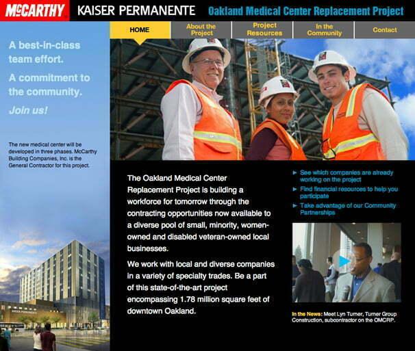 website for Kaiser Oakland Medical Center