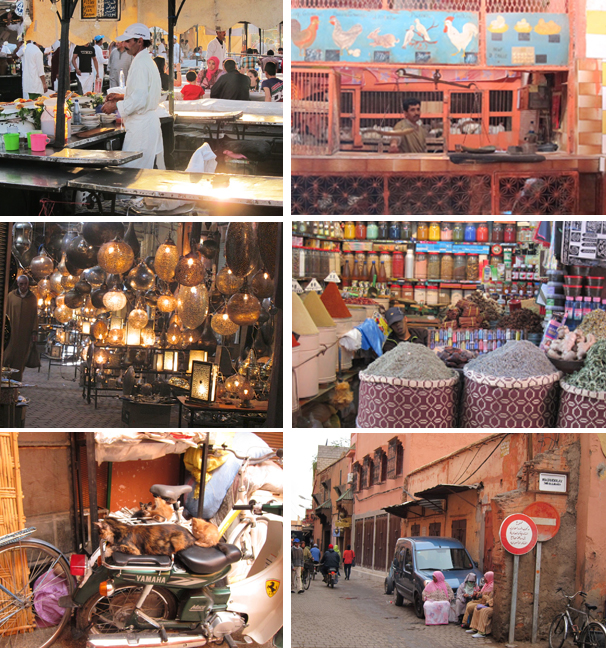 montage of Marrakech photos